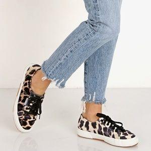 Superga 2750 Leopard Velvet Sneakers
